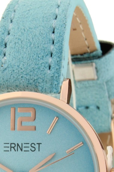 Ernest horloge Rosé-Cindy-Mini SS-18 lichtblauw