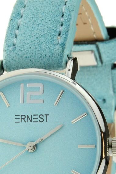 Ernest horloge Silver-Cindy-Mini SS-18 lichtblauw