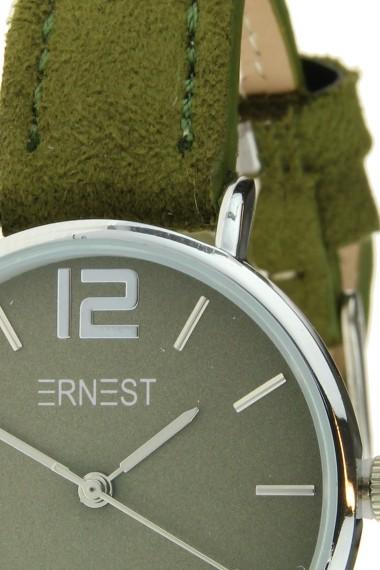 Ernest horloge Silver-Cindy-Mini SS-18 donkergroen