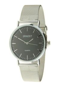 """Ernest horloge """"Grace"""" zilver-zwart"""