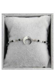 "Armband ""Moon & Beads"" zwart"
