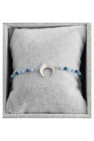 "Armband ""Moon & Beads"" lichtblauw"