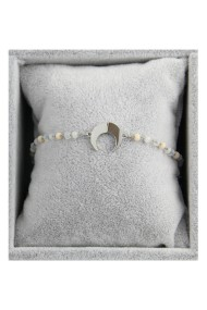 "Armband ""Moon & Beads"" wit"