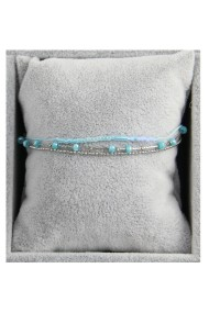 "Armband ""Triple Beads"" lichtblauw"