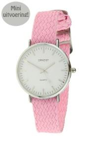 """Ernest horloge """"Loiysa-Mini"""" lichtroze"""