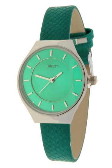 """Ernest horloge """"Silver-Tosca"""" groen"""