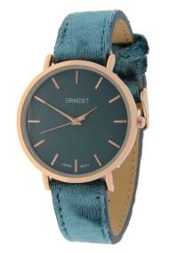 "Ernest horloge ""Rosé-Nox-Velvet"" jeansblauw"