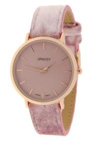 "Ernest horloge ""Rosé-Nox-Velvet"" lichtroze"