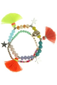 "Armband ""Spring-Stars"" neon geel"