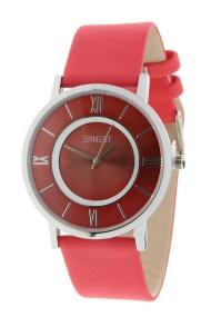 """Ernest horloge """"Silver-Roya"""" rood"""