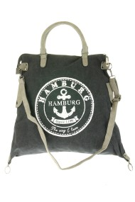 "Canvas shopper ""Hamburg"" zwart"