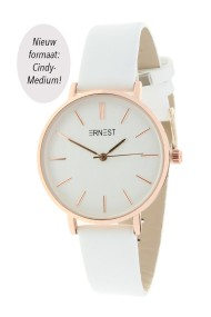 "Ernest horloge ""Rosé-Cindy-Medium"" wit"