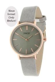 "Ernest horloge ""Cindy-Medium"" lichtgrijs"