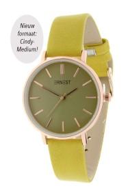 """Ernest horloge """"Cindy-Medium"""" mostard"""