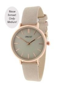 "Ernest horloge ""Cindy-Medium"" beige"