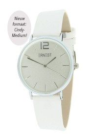 "Ernest horloge ""Silver-Cindy-Medium"" wit"