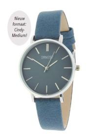 "Ernest horloge ""Silver-Cindy-Medium"" blauw"