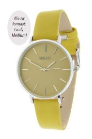 "Ernest horloge ""Silver-Cindy-Medium"" mostard"