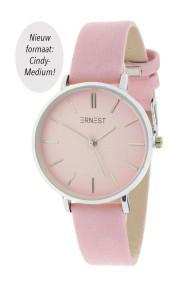 "Ernest horloge ""Silver-Cindy-Medium"" lichtroze"