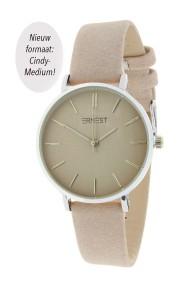 "Ernest horloge ""Silver-Cindy-Medium"" beige"