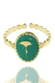 "Ring ""Flamingo"" groen"
