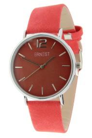 Ernest horloge Silver-Cindy rood