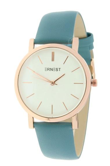 "Ernest horloge ""Rosé-Andrea"" frisblauw"