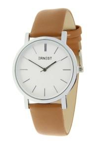 """Ernest horloge """"Silver-Andrea"""" camel"""