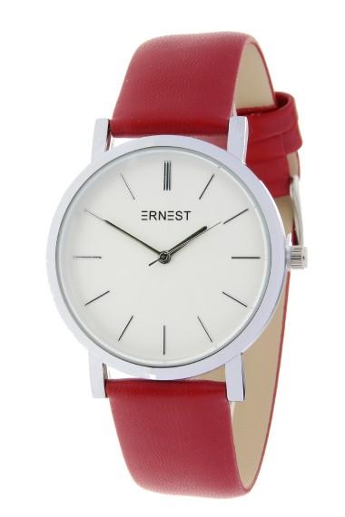 """Ernest horloge """"Silver-Andrea"""" rood"""