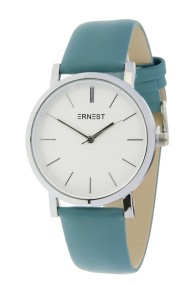 """Ernest horloge """"Silver-Andrea"""" frisblauw"""