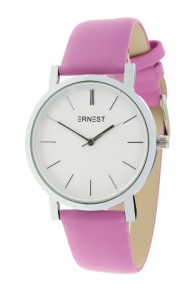 "Ernest horloge ""Silver-Andrea"" fuchsia"
