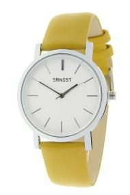 """Ernest horloge """"Silver-Andrea"""" mostard"""