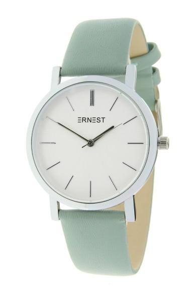 "Ernest horloge ""Silver-Andrea"" zachtgroen"