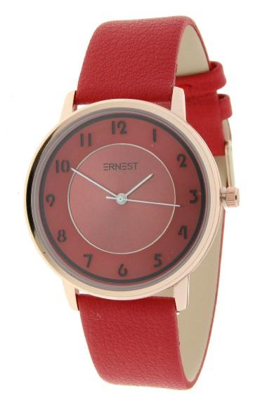 """Ernest horloge """"Sevilla"""" rood"""