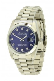"Philippe Constance ""Medium Silver"" stones blue"