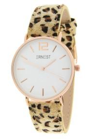 """Ernest horloge """"Rosé-Cindy-Leopard"""" beige"""