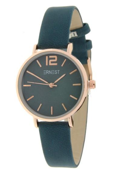 Ernest horloge Rosé-Cindy-Mini FW-18 donkerblauw/petrol