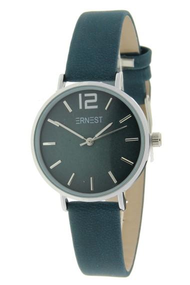 Ernest horloge Silver-Cindy-Mini FW-18 donkerblauw/petrol