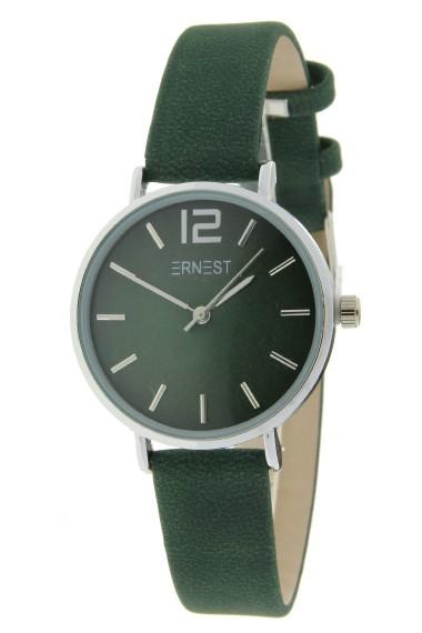 Ernest horloge Silver-Cindy-Mini FW-18 donkergroen