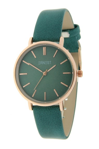 Ernest horloge Rosé-Cindy-Medium FW18 zeegroen