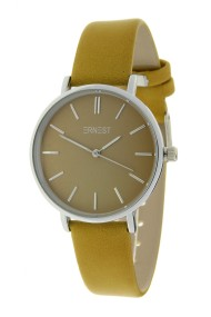 Ernest horloge Silver-Cindy-Medium FW18 mostard