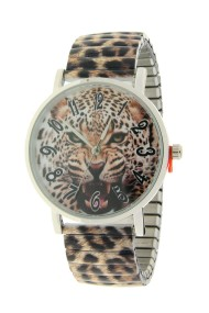 """Ernest horloge """"Leopard"""" bruin"""