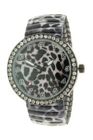 "Ernest horloge ""Panther Stones"" zwart"