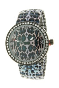 "Ernest horloge ""Panther Stones"" blauw"