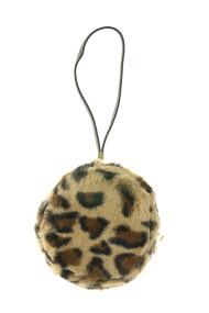 """Fluffy tasje """"Roundy"""" leopard"""