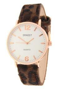 """Ernest horloge """"Rosé-Misty-Leopard"""" bruin"""