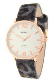 "Ernest horloge ""Rosé-Misty-Leopard"" grijs"