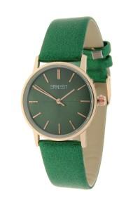 "Ernest horloge ""Valencia-Medium"" metallic groen"