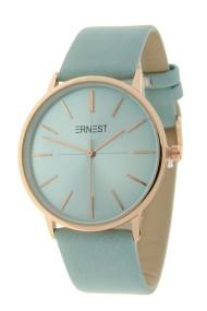 "Ernest horloge ""Valencia-Large"" lichtblauw"