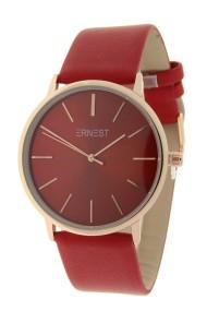 """Ernest horloge """"Valencia-Large"""" rood"""